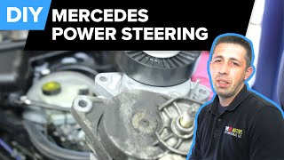 Mercedes Power Steering Replacement (Pump, Reservoir, Drive Belt Tensioner - E320)
