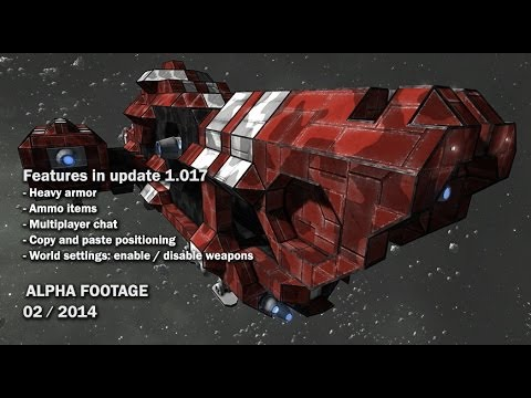 Space Engineers - Multiplayer chat, Heavy Armor, Ammo models & items