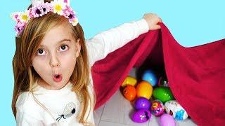 Surprise eggs seek Nursery Rhymes Song for Children