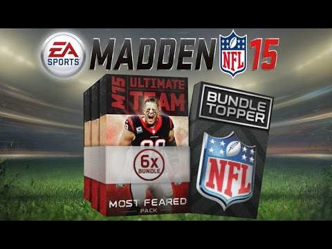 Madden 15 Ultimate Team - Most Feared Bundle Pack Opening - New Legends! MUT 15