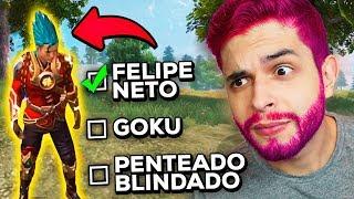 CADA KILL PINTA O CABELO?!? USEI O NOVO CAPACETE COLORIDO DO FREE FIRE!!!