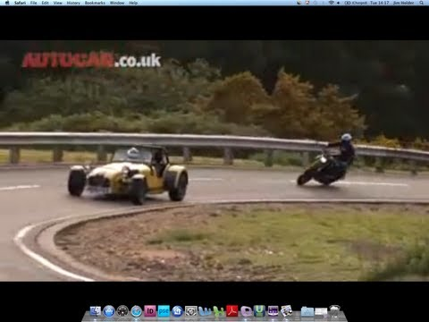 Caterham R500 vs Ducati by autocar.co.uk Video