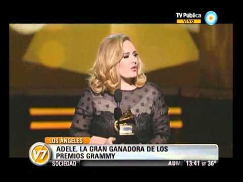 Visión Siete: Adele, la gran ganadora de los premios Grammy