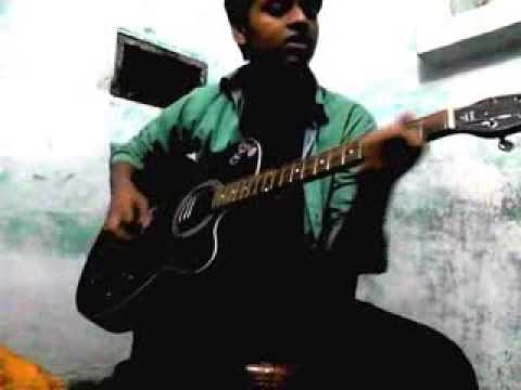 HALE-DIL TUJHKO SUNATA(ACOUSTIC COVER)ON GUITAR BY SANTOSH SUMAN...