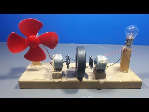 how to make free energy light bulb generator with magnets and dc motor | science projects thumbnail