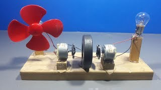 how to make free energy light bulb generator with magnets and dc motor | science projects