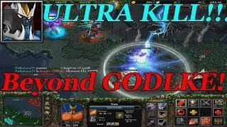 DOTA 1 - Sven BEYOND GODLIKE + ULTRA KILL!!! (Almost Rampage)