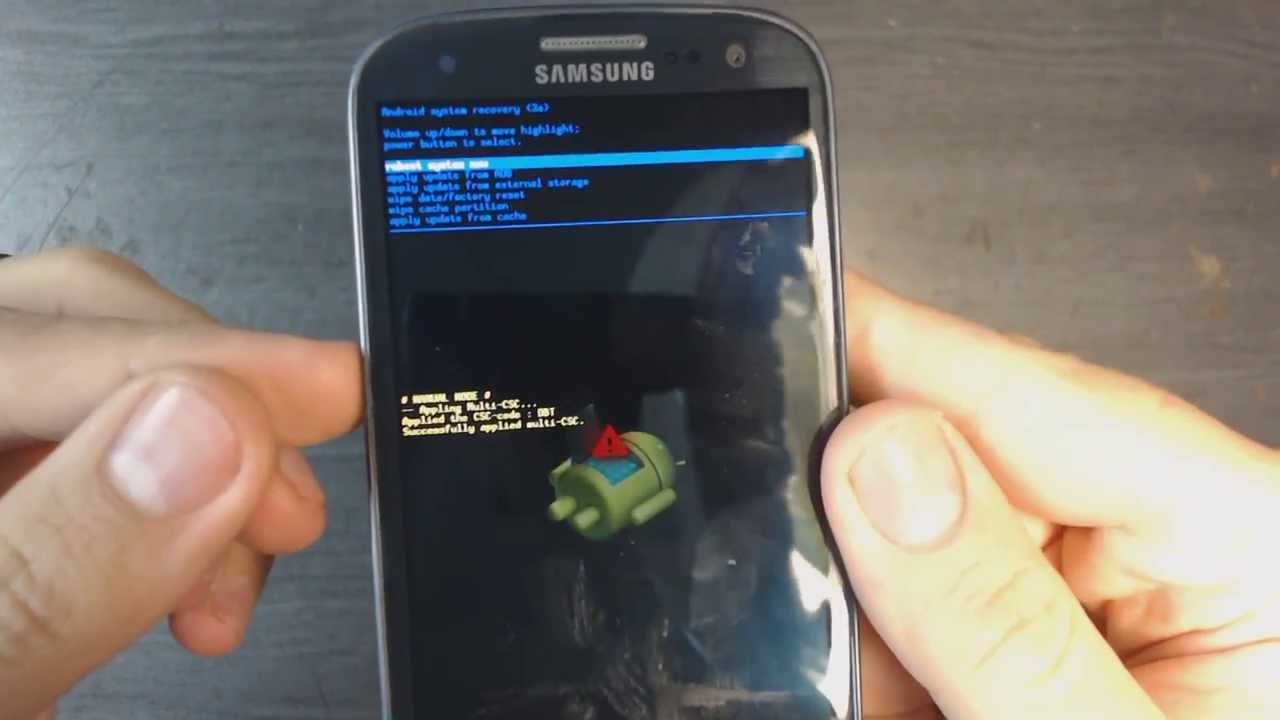samsung galaxy s3 i9300 factory reset