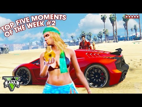 Hike's TOP FIVE Moments of the WEEK!! #002 (GTA 5 Funny Moments) + More!