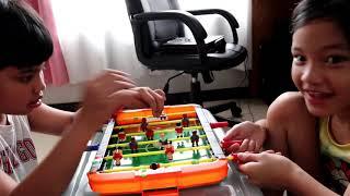 May trangkaso kami! + Playing new toy Soccer Football Player  ❤️   Heidi vlogs