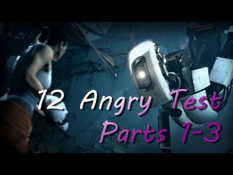 Portal 2 - Perpetual Testing Initiative - 12 Angry Tests - Levels 1-3 [HD]