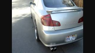 G35 sedan stright pipes