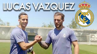 LUCAS VAZQUEZ TEACHES HIS SECRETS AND FOOTBALL SKILLS with Nacho fernandez of Real Madrid