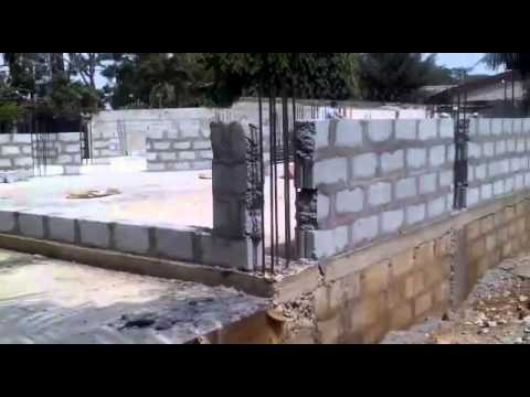 Nyaniba Estates, F515/4. OSU. Accra - Commencing Phase Two: Building Of Super Structure