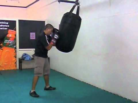 Boxing Heavy Bag Drill - Basic combinations (2 punches). Image 1
