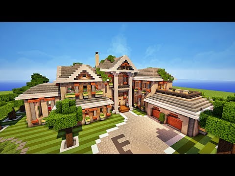 Minecraft maison moderne by venom youtube for Plan maison minecraft moderne