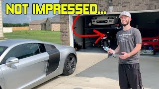 THE WORST THING ABOUT BUYING HIS NEW AUDI R8 IS THIS... DISAPPOINTED?