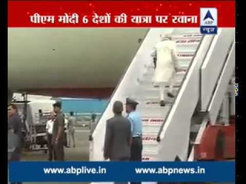 Prime Minister Narendra Modi leaves for six-day foreign tour