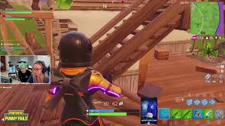 NINJA S WIFE WINS FIRST GAME IN FORTNITE   Fortnite Funny Fails and WTF Moments! #7