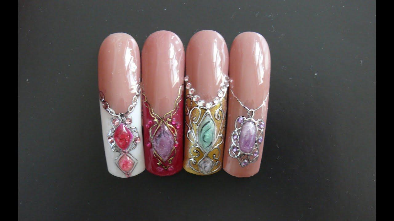 Камни из геля дизайн фото на ногтях
