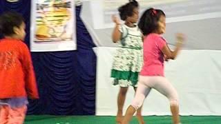 Diya and others dancing on Paglu Dance song @WCA, Durga Pujo 2012