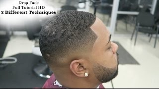 HD Barber Tutorial: Martin Lawrence Drop Fade: 2 Different Techniques: Full Length