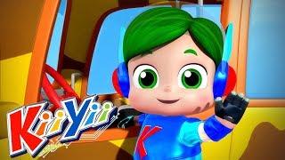 детские песни | Колеса у автобуса Часть 2 + Еще! | KiiYii | мультфильмы для детей