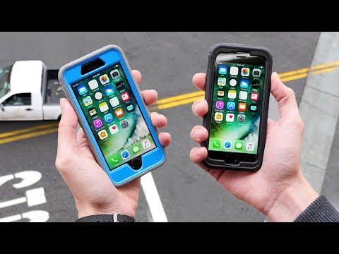 iPhone 7 OtterBox vs. Tech21 33 FT Drop Test!