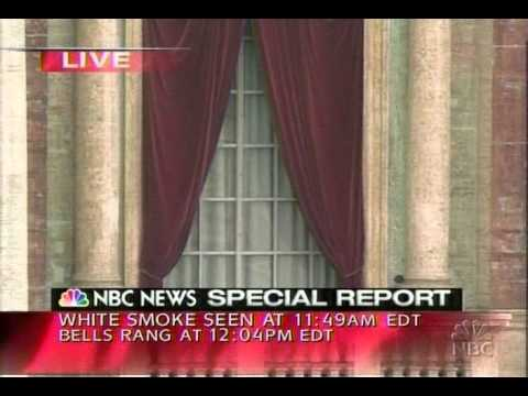 NBC News Coverage of the Election of Pope Benedict XVI