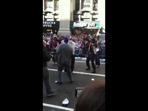 Antrel Rolle Dancing @ Ticker Tape Parade