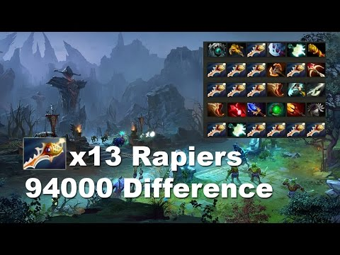 13 Rapiers + 94000 difference - 207min 2nd longest match in Dota 2