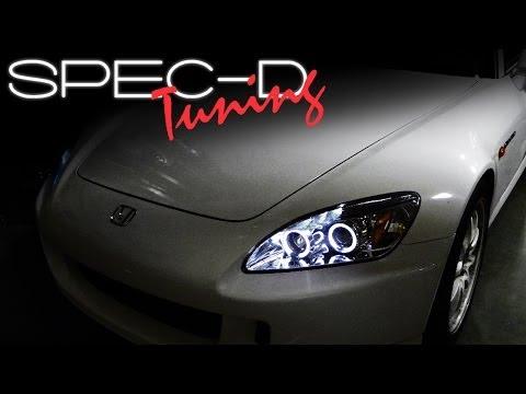 SPECDTUNING Installation Video: 2004-2009 S2000 AP2 Projector Headlights Installation