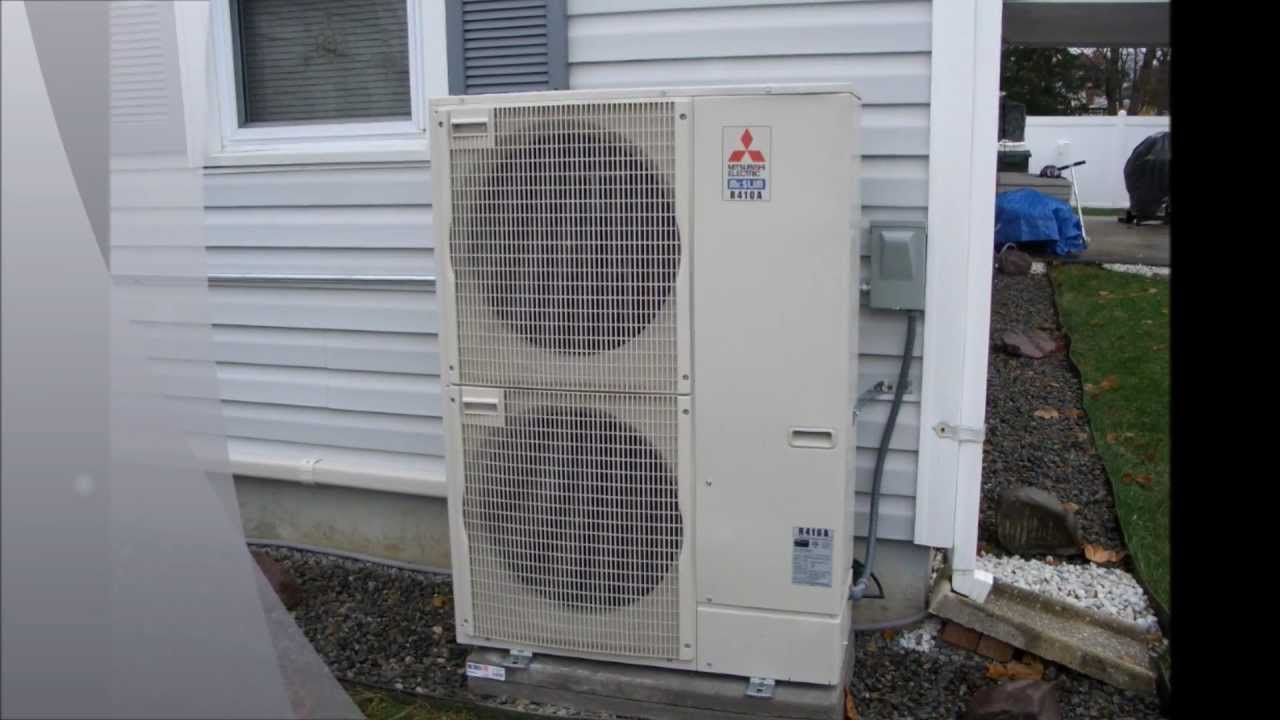 Hvac Mitsubishi Quot Mini Split Quot Multi Zone Wmv Youtube
