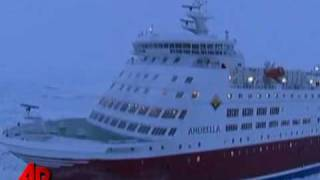 Raw Video: Ships Stuck in Ice in Baltic Sea