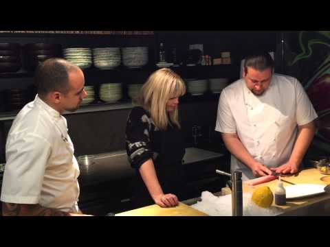 Nikkei Boys and Kate Thornton cooking lession part 1