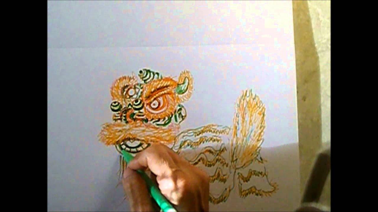 Lion Dancing Drawing Lion Dance Drawing 03 Drawing