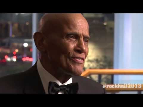 Backstage at the 2013 Hall of Fame Inductions with Harry Belafonte