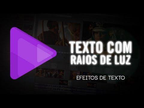 Tutorial Sony Vegas Pro 12: Texto com raios de luz - Efeitos de Texto