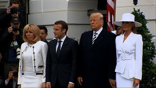 Trump Welcomes Macron at White House