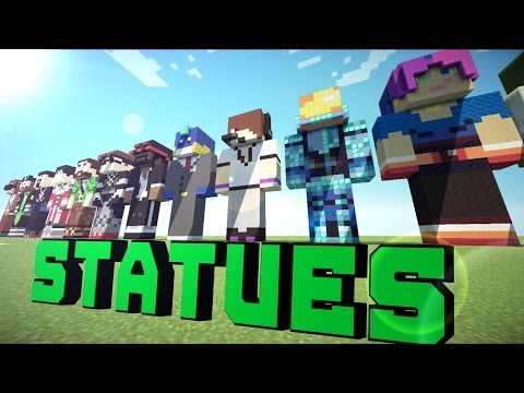 mcpc youtuber statues on minecraft pe download learn