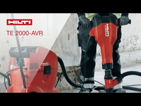 INTRODUCING the TE 2000-AVR demolition hammer for floor breaking with low weight & low vibrations