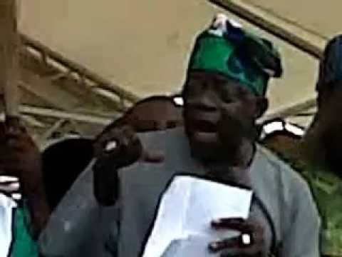 Asiwaju Bola Ahmed Tinubu Speaks At the ACN Campaign Rally ...