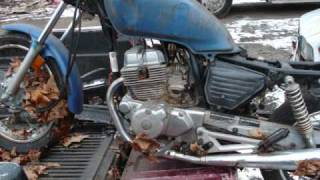 Honda Chopper Project Video #1 JUNKYARD FREEBIE