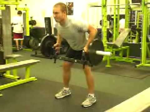 0 Pro Push Pull Exercises Barbell Bent Over Row and Dead Lift