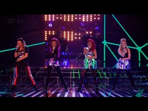 Little Mix do their best Rihanna - The X Factor 2011 Live Show 5 (Full Version)