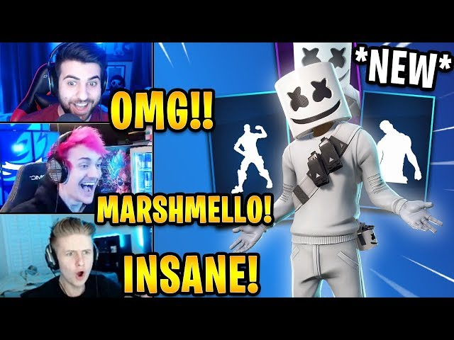 Streamers React to *NEW* Marshmello Skin! *EPIC* | Fortnite Highlights & Funny Moments thumbnail