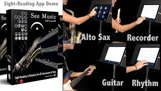 See Music Sight-Reading App Demo using 3 different instruments