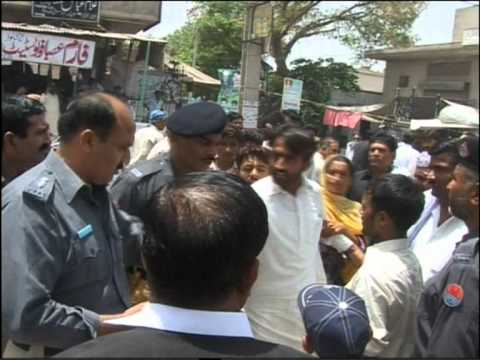protest against Police in sargodha پولیس تشدد سے نوجوان ہلاک