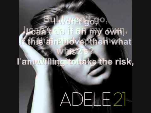 Adele - He Won't Go + Lyrics video