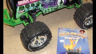 "Traxxas ""Grave Digger"" with Tail Devil mod."